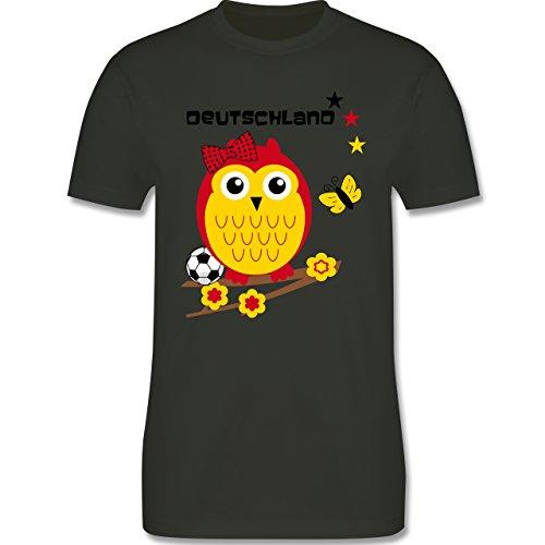 EM 2016 - Frankreich - Deutschland Eule - Herren Premium T-Shirt Army Grün