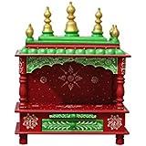 MVEE Wooden Home Temple/Pooja Mandir/Mandapam/Small Home Temple (38 cm x 20 cm x 51 cm)