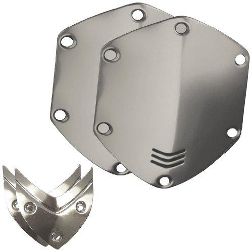V-MODA Crossfade Over-Ear Headphone Metal Shield Kit - Chrome (Vmoda Custom)