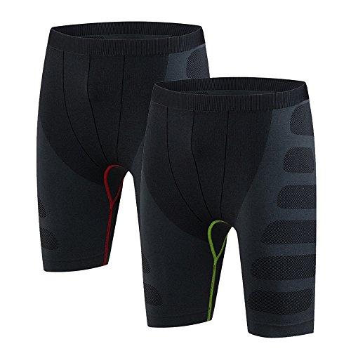 fablight Herren Kompressions-Shorts BASE LAYER Pants Cool Dry Comfort Fit Sport Strumpfhosen Leggings, Herren, 2 Pack Set