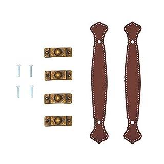 aiber 2Oberfläche Leder Möbel Griff Modern Stil Leder Griff Tür Pull Griff, braun