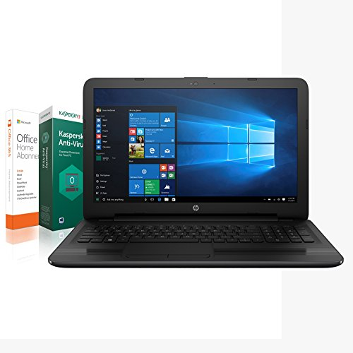 HP Notebook (17,3 Zoll) AMD Core 2 x 2,00 GHz, 8 GB DDR4 RAM, 1000 GB, HDMI, USB 3.1, HD Webcam, AMD Readon R2 Grafik, Windows 10 Pro + Kaspersky Internet Securtiy 2018 + Office 365 Personal