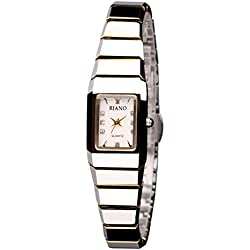 Square steel watch/Casual fashion quartz watch/Men and women couples form-C