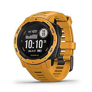Garmin Instinct – Reloj con GPS, Unisex, Amarillo Ocre, 1