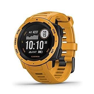 Garmin Instinct – Reloj con GPS para actividades al aire libre (resistencia frente a golpes y agua, carcasa de polímero reforzado) Amarillo Ocre