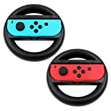 KEESIN Joy-Con Lenkrad Kompatibel mit Nintendo Switch Controller 2 Packung Remote Dock Wheel Zubehör (Schwarz)