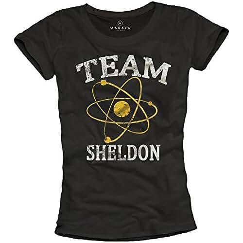 dia del orgullo friki Team Sheldon - Camiseta negra para mujer