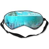 Bequeme Schlafmaske, Küstenstadt Hai Koralle Schlafmaske für Reisen, Mittagsschlaf oder Mediation oder Yoga preisvergleich bei billige-tabletten.eu