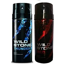 Wild Stone Thunder, Red Deodorant (pack of 2) 200ml each