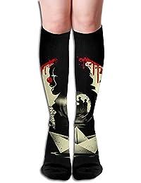 Long 50cm) Compression Socks Tiny Cartoon Owl Unisex Full Socks Long Socks Knee High Socks