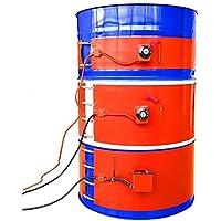 D&F Calentador de Tambor Aislado 53 galones / 200 litros Calentador de Barril de Grasa Digital Ajustable/Control de Temperatura rotativo,A,200L/125 * 1740mm/1KW