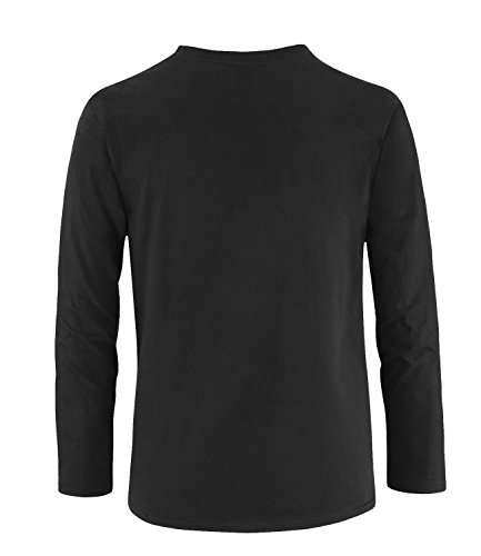 EZYshirt® Maler Evolution Herren Longsleeve Schwarz/Weiss/Orange