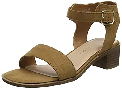 Wide Foot Pambo, Sandali a Punta Aperta Donna, Beige (Tan 18), 36 EU New Look