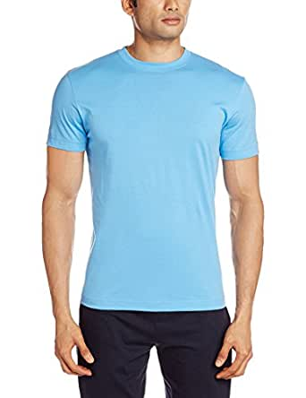 Jockey Men's Cotton T-Shirt (8901326103425_2714_S_Azure Blue)