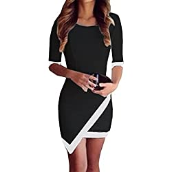 Tefamore Vestido de noche atractivo Bodycon del partido de la tarde del vendaje del verano de las mujeres atractivas mini (Tamaño :M, Negro)