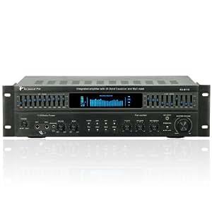 technique Pro Rxb113récepteur Intégré, 1500Watt amplificateur avec double égaliseur 10Bandes, Noir