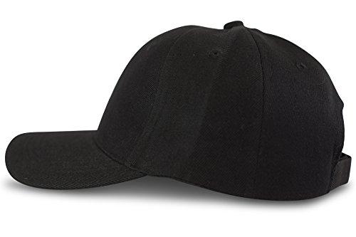 FashionCHIMP Baseball Basic-Cap in verschiedenen Uni-Farben, Unisex 6-Panel Cap (Schwarz)