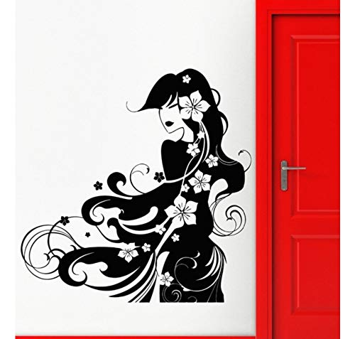 WandaufkleberWandaufkleber Vinyl Aufkleber Geisha Hot Sexy Oriental Girl Salon Wohnkultur Fenster Schaufenster Aufkleber Removable 56X57 Cm