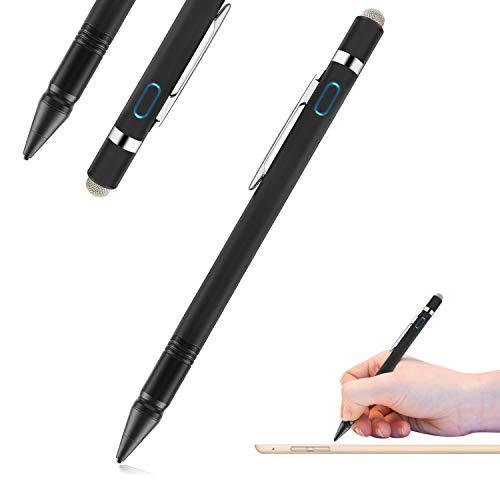 Active Stylus Stift, FUNXIM 2 in 1 Hochpräzise 1,5 mm Multifunktions Capacitive Stift, Aluminiumlegierung Körper mit Ultra Fine Fiber Mesh Tipp Stiftabdeckung für Tablet, Telefon
