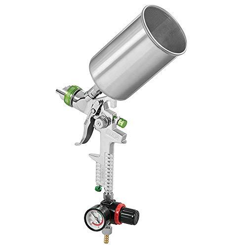 ROEAM Spray Gun 2.5MM Nozzle HVLP Gravity Feed Power Tools Mini Air Paint Spray Gun for Painting Car Air Brush Spray Gun Sprayer -