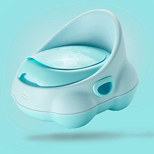 Toilettes pour enfants Toilette de Bedpan Separable Design PP matériel Vert Rose Bleu 27 * 24 * 28cm (Couleur : A)