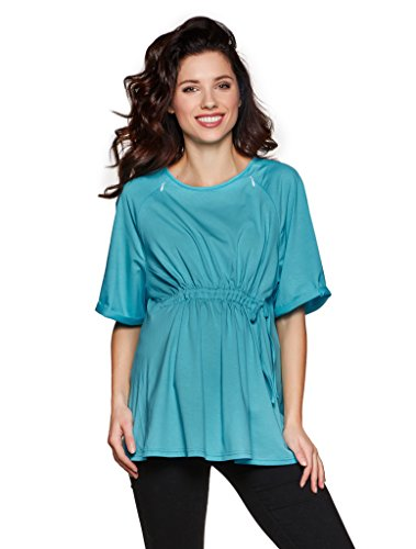 Be! Mama Umstandsshirt, Stillshirt Aus Baumwolle, Modell: Cosima, Blau, XL