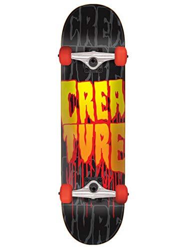 Creature Skateboard Komplett Stacks - 8 Inch Schwarz-Rot (One Size, Rot)