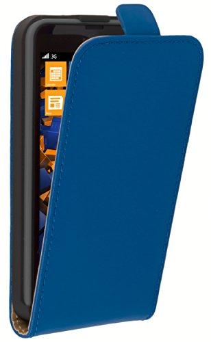 mumbi Flip Case für Nokia Lumia 630/635 Tasche blau Nokia 635 Bei Kostenloser Versand