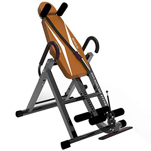 BF-DCGUN Inversion Table Multifunktions Inversion Bank für Rückentraining Klimmzugstange, Faltbarer Schwerkrafttrainer, volle vertikale Inversion bis 180 °