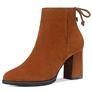 Top Shishang Herbst und Winter sexy Retro-Matte wies dicken hohen Absatz Martin Stiefel Damen Chelsea Stiefel und Stiefeletten westlichen Stiefeletten