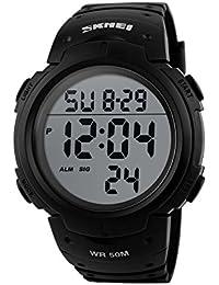 Naivo Men's Quartz Plastic Casual Watch, Color:Black (Model: NAIVO-WATCH-1119)