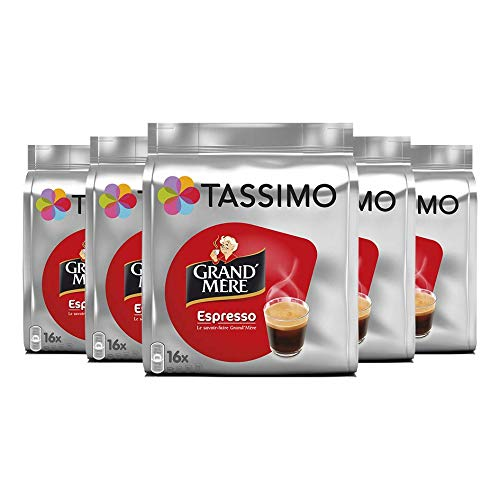 Tassimo Dosette Café - Grand'Mère Espresso - 80 Boissons (Lot de 5x16 T DISCs)