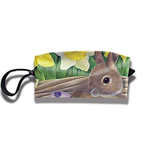 Travel Make-Up Bags Bunny Eggs Daffodils Women Cosmetic Bag Multifuncition Durable Pouch Zipper Organizer Bag Womens Daffodil