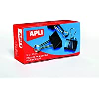 APLI 11948 - Pinzas palas abatibles (19 mm), 12 pinzas