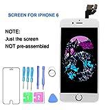 Ruesious LCD Display Touch - Screen Sostituzione Digitale Frame Assemblea Piena Set con Strumenti e Il Vetro dello Schermo Protettore per iPhone 6 4.7 (Bianco)