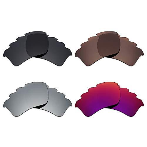 Mryok polarisierte Ersatzgläser für Oakley Half Jacket 2.0 XL Sonnenbrillen mit Belüftung - Stealth Black/Bronze Brown/Silver Titanium/Midnight Sun