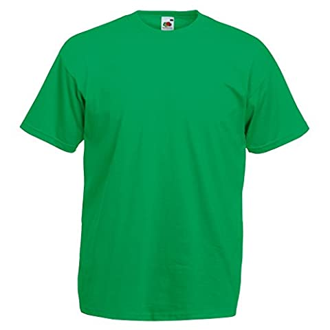 New Fruit of the Loom Unisex Adults Value Weight Cotton T Shirt Kelly Green X-Large