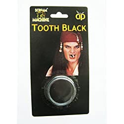 Maquillaje para piratas, dientes negros.