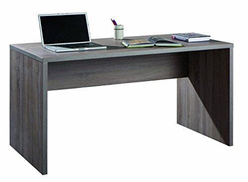 Scrivania larga e moderna legno ufficio legno rovere tartufo sr5140 l178h75p69