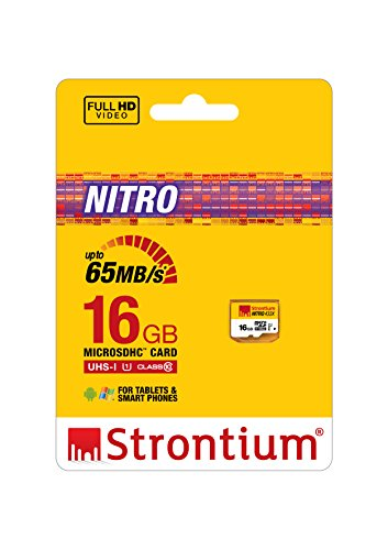 Strontium Nitro 65MB/s UHS-1 Class 10 microsdhc Memory card (without adapter/card reader)