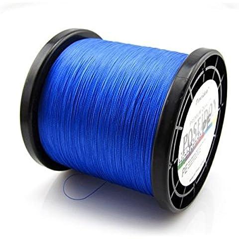 Poseidon® Top-Grade Giapponese multifilamento intrecciato linea di pesca 1000m 8-100 LB, colore 5 (blu, 20lb) - Bobine 20 Pound