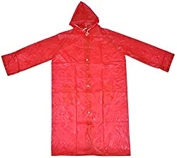 L-128 Unisex Rain Coat (Red)