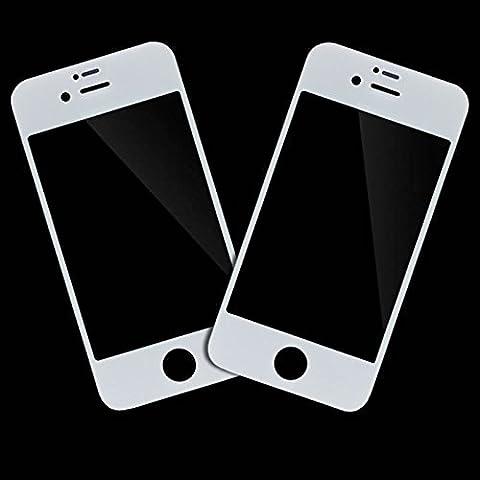 SPARFIX® - 2 x Vitre Avant Blanc en Verre sur l'Ecran LCD Pour iPhone 4/4S