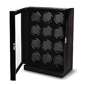 AUBLAN Automatischer Uhrenbeweger Box für 12 Uhren mit LCD Touchscreen