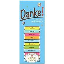 Confiserie Heidel Danke Täfelchen, 3er Pack (3 x 80 g)
