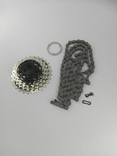 Verschleißset Shimano Kassette HG 41 7-fach + Kette HG 40 + Distanzring -