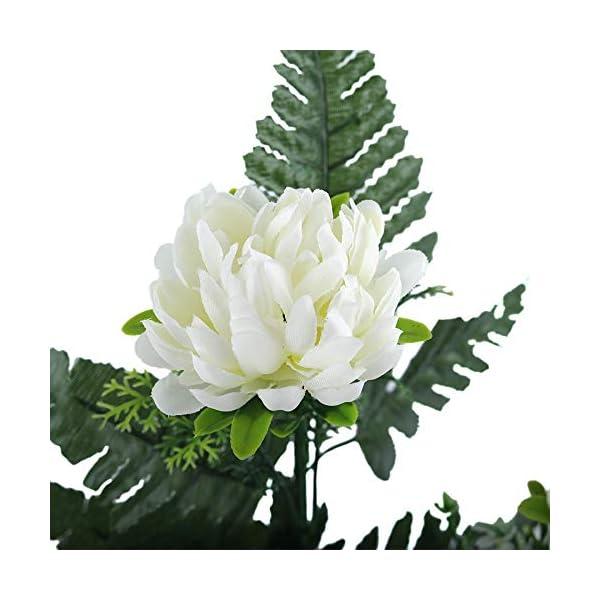 XFLOWR 52cm 27 Cabezas Seda Gerbera Margarita Crisantemo Flores Artificiales para Cementerio Tumba Boda Inicio…