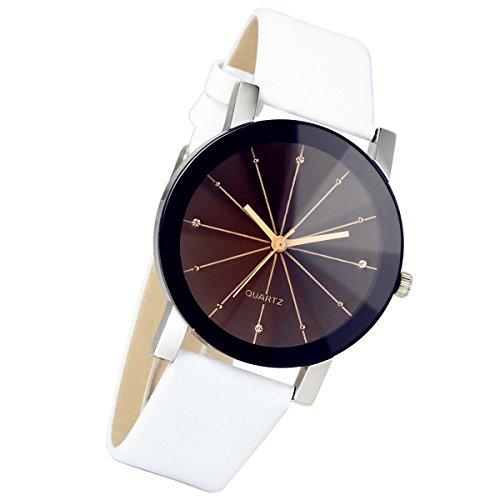 Lancardo Reloj Comercial Analógico de Original Movimiento Cuarzo Japonés Dial con Diamantes Artificiales...