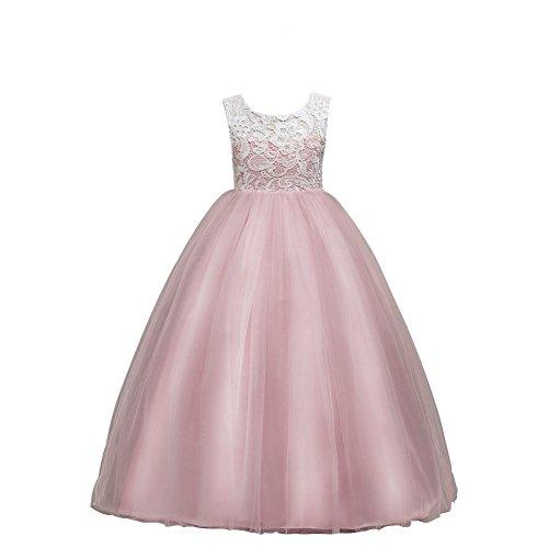 Wulide Kinder Mädchen Prinzessin Kleid Abendkleid mit 'Blumen'-Muster, Pink,...