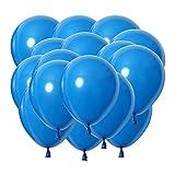 LAAT 200 Piezas de Globos de Color Sólido para Cumpleaños Suministros y Decoración, Globo de 5 Pulgadas Size 5cm (Azul Profundo)